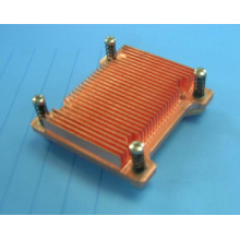 Perfil de cobre de dissipador térmico de extrusão de cobre