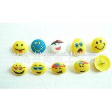 Cartoon lächelnd Gesicht Umweltschutz Kunststoff Pin