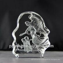 2015 горячая распродажа Хрустальный ангел,фигурки ангела для подарков или домашнего украшения 3D кристалл статуэтки