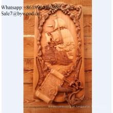 Parede de estilo artesanal Europeu pendurado painéis de parede de madeira esculpida na China