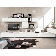 Diseño moderno de muebles de gabinete de soporte de TV de laca de estilo de Australia para la venta