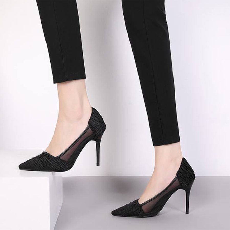 Black Pointed Pumps
