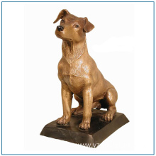 Life Size Bronze Dog Statue for Sale
