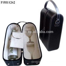 high quality leather gift boxes for wine glasses manufacturer