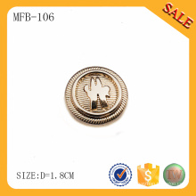 MFB106 Customized gold remove metal button jeans wholesaler