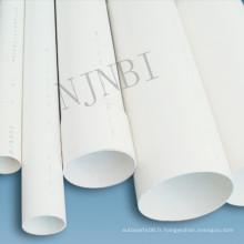 Tuyau en PVC de haute qualité blanc 1/2 po