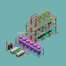 Équipement automatique d'usine de raffinage de pétrole brut