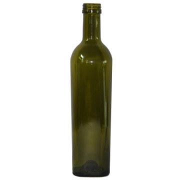 Garrafa de vinho de vidro verde escuro (PT500-1315)