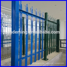 """Fashion Design PVC coated colourful """"W"""" """"D"""" Section triple spiked galvanized steel decorative palisade fencing"""