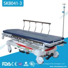 SKB041-3 Hospital Patient Luxury Hydraulic Electrostatic Spray Steel Transportation Trolley