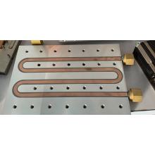 Placa fria brasagem tubo de cobre bloco de alumínio tubo de solda