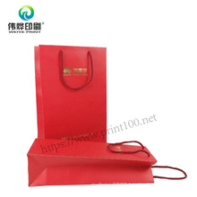 Manufacturer of Wine Take Away Food Paper Gift Bag with Twist Handles