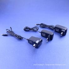 Adaptateur secteur 12V 1-2A en US British Eur