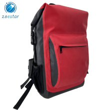 Red Rolltop Equipment Drypack Waterproof Bike Bag Backpacks for Outdoor Cycling Hiking Surfing Motorsports Fishing