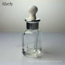 25ml botellas de aceite de cristal portátil de descuento elegante