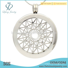 Latest silver pendant coin holder,stainless steel coin pendant