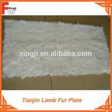 Natural Color White Tianjin Lamb Fur Plate