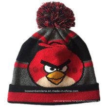 OEM Produce Customized Design Cartoon Acrylic Winter Knitted Jacquard Beanie Hat