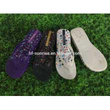 Zapatillas de lujo de los deslizadores planos de las muchachas de la playa de la manera para las muchachas zapatillas de los nuevos modelos
