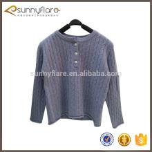 Suéter de punto de cable de tela de cachemira niños