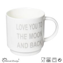 White Color with English Words Stable Coffee Mug