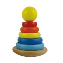 2016 Neue Ankunfts-klassische Regenbogen-hölzerne Baby-stapelnde Spielwaren
