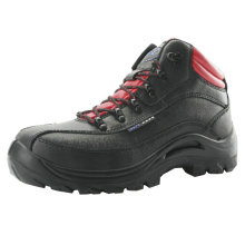 Glattleder Construction Steel Toe Schuhe