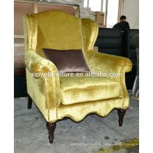 Antique Arm Sofa Chair Withe Ebony Legs XYNEW26