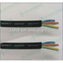 450 / 750v IEC estándar EPR aisló envoltura de neopreno flexible HO7RN-F cable de goma