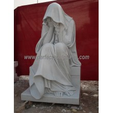 Marble Granite Angel Statue for Cemetery Tombstone Monument Headstone (SY-X1216)