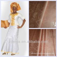 Jacquard Bazin Riche African Garment Fabric Guinea Brocade Damask Shadda 100% Cotton Nigeria Style