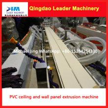 Máquina da extrusão do painel de parede do PVC do projeto do parafuso do gêmeo e do painel de teto