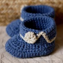 Bébé Enfant Newborn Boy Girl Chaussettes Prewalker Hand-made Crochet Shoes