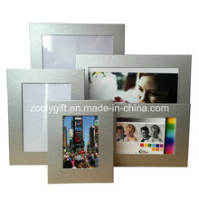Silvery Textured Art Paper Photo Frame Promotional Gift Frames