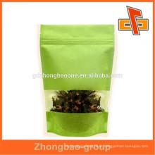 China fabricante novo estilo de alimentos grau saco de papel de arroz com janela
