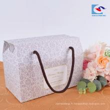 Usine pas cher personnalisé pliant portable cadeau ondulé boîte de papier d'emballage