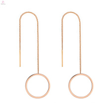Stainless Steel Young Girls Fine Jewelry Korean Model Selling Earrings