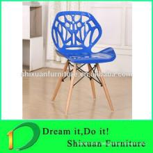 blue cross back pp seat living room wood chair