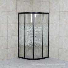 Wholesale Aluminium Alloy Frame Mosaic Glass Sector Shower Enclosure