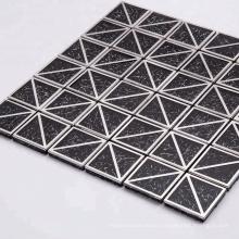 Fantastic square glass blend metal mosaic tiles for decoration