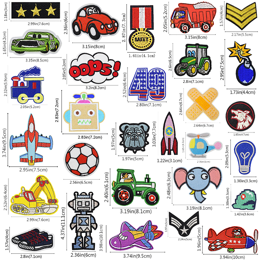 Cartoon Car Embroidery Patch