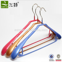 Crochet supérieur en métal enduit de PVC avec barre