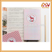 lovely stationery of private custom kraft paper diary and journal notebook