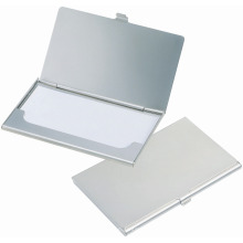 Titular de la tarjeta de presentación en blanco de acero con logotipo personalizado