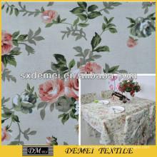 print flower canvas fabric
