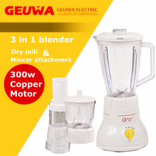 Mult-Funcional 3 en 1blender con la molienda seca y Mincer Attachment