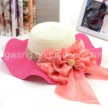 Modificada para requisitos particulares señora Straw Hat, verano se divierte la gorra de béisbol