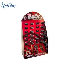 Présentoir pégable de plancher de carton de vente chaude, présentoir latéral d'aile de carton Plegboard avec la base pour des articles accrochants