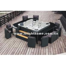 Muebles de mimbre al aire libre SPA Set