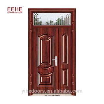 Portes d'entrée en acier à usage résidentiel avec moustiquaire au Pakistan